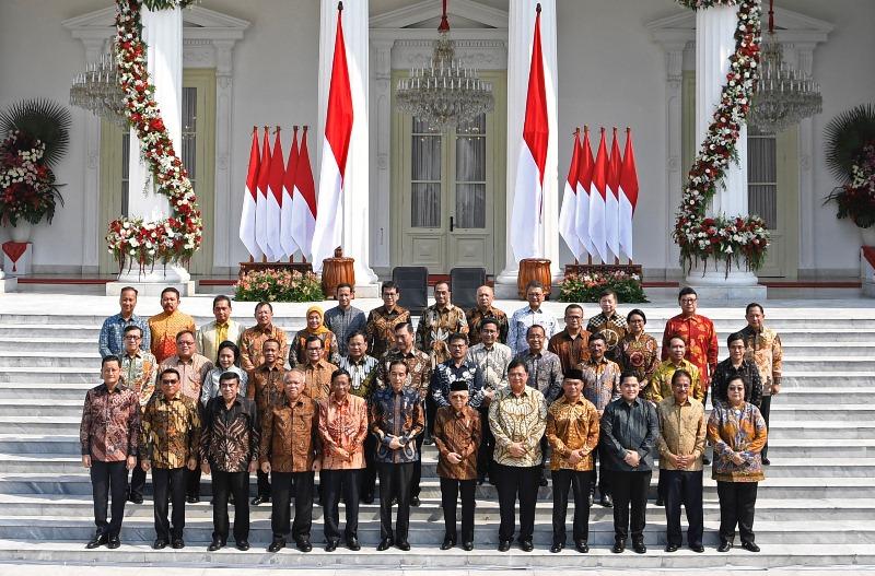 Presiden Jokowi Umumkan Susunan Kabinet Indonesia Maju
