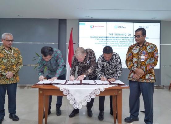 Penandatangan HoA Untuk Optimalisasi Pelabuhan Kuala Tanjung