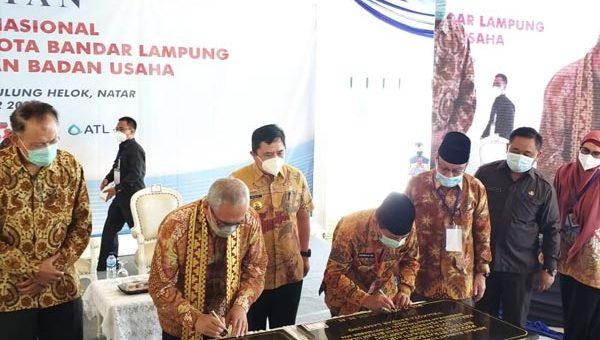 Peresmian Sistem Penyedian Air Minum (SPAM) Lampung